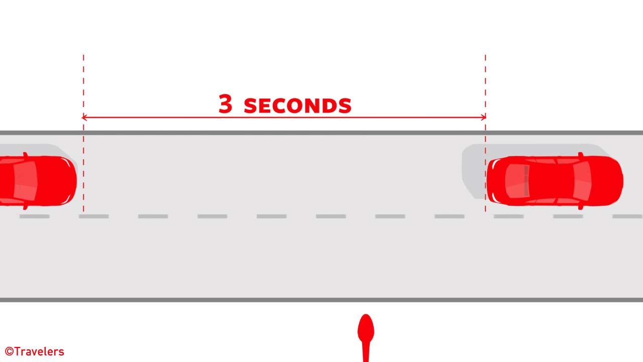 Three second rule driving